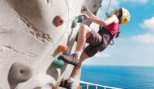 Rock Climbing Wall Cruise Ship