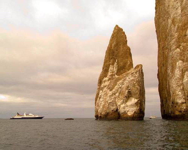 Celebrity Cruise Ship in Galapagos