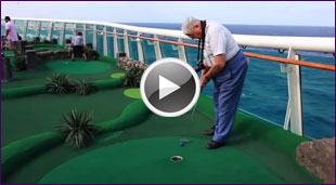 Royal Caribbean Cruises Deck- athalon Event 6 Mini Golf Oasis of the Seas